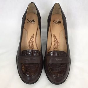 482ba9f991a Sofft Shoes - Sofft High Heel Penny Loafers 8.5W Croc Print